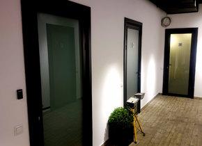 алюминиевые межкомнатные двери со стеклом