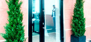 уличные теплые входные группы двери для офисов