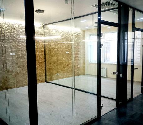 стационарная перегородка со склеенными стеклами  от АСК СИСТЕМА